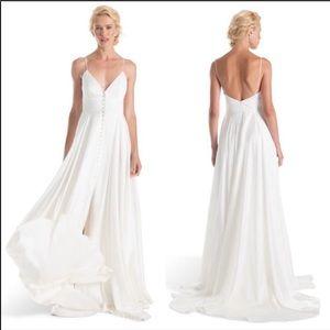Add'l Pics Joanna August Joplin Slit Wedding Dress